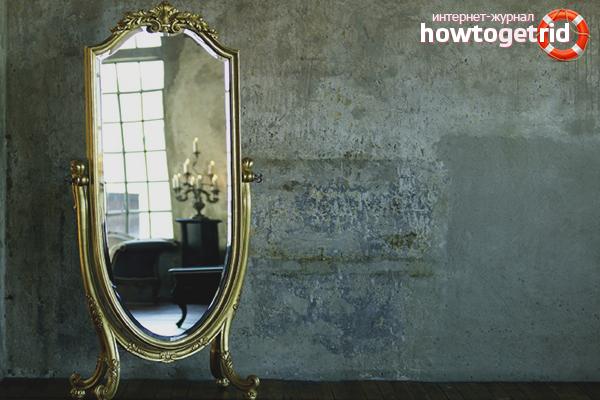 Wie man einen alten Spiegel loswird