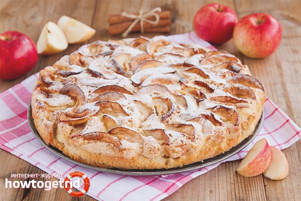 Wie man Charlotte mit Äpfeln im Ofen kocht