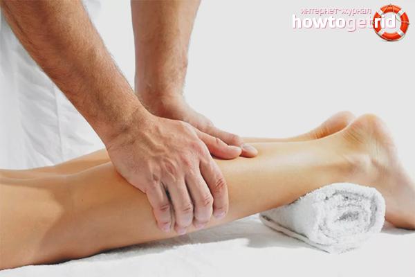 Massagem fadiga nos pés