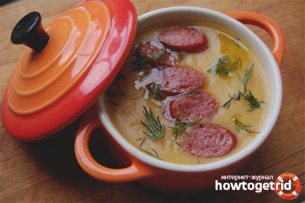 Wurst-Käsesuppe