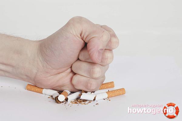 Wie man Nikotinsucht loswird