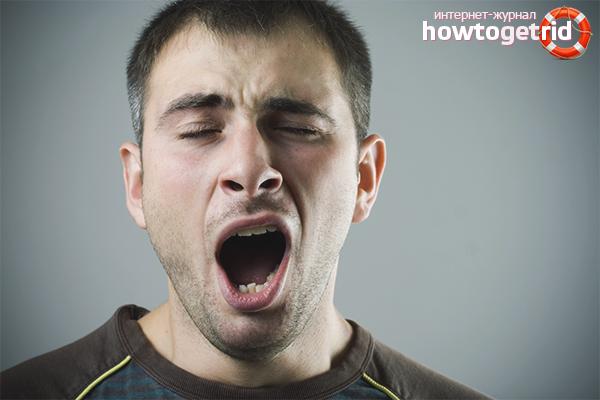 Wie man das Gähnen loswird