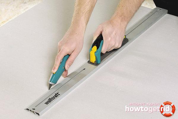Kā sagriezt drywall