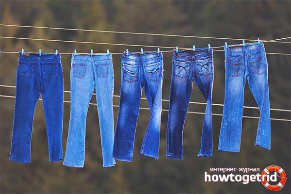 Wie man Jeans trocknet, damit sie schrumpfen