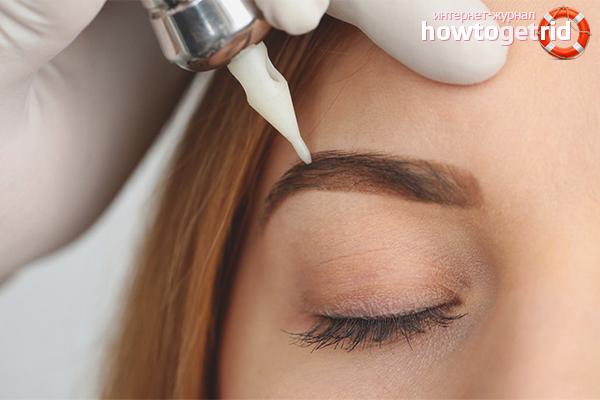 Wie man Augenbrauen nach dem Tätowieren pflegt