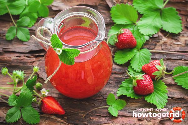 Compot de căpșuni cu balsam de lămâie