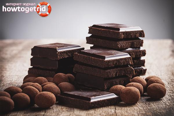 Regeln für die Aufbewahrung von Schokolade