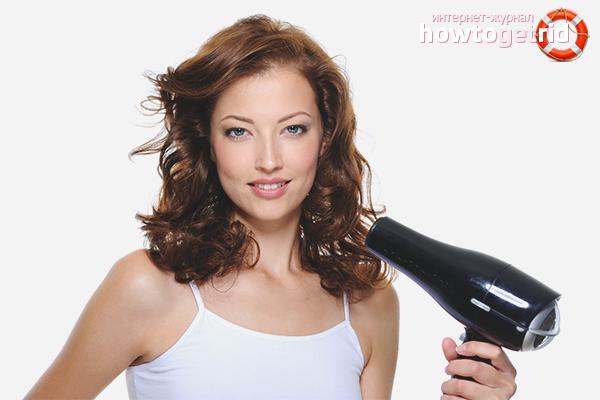 Hur man torkar lockigt hår