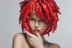 Màscares de pèl amb pebre vermell
