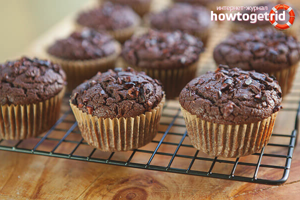 Ein schnelles Rezept für Schokoladenmuffins
