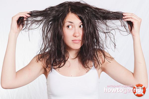 Wie man mit fettigem Haar umgeht