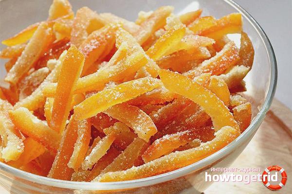 Hvordan man fremstiller kandiserede appelsinskaller