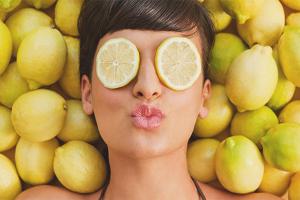 מסכות פנים עם לימון