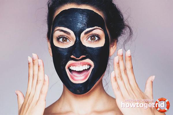 Aktivkohle-Masken für das Gesicht