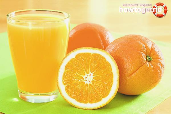 Прясно изцеден портокалов сок