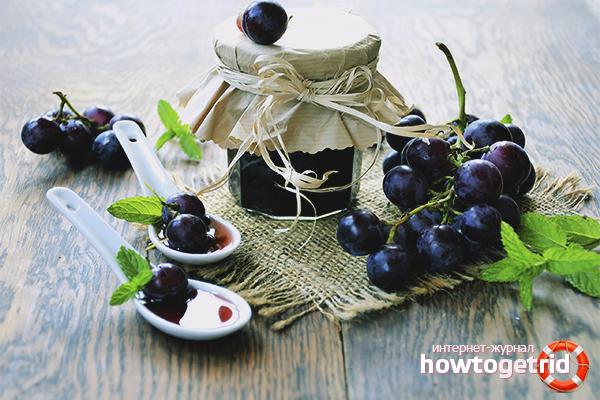 Einfaches Rezept für Traubenmarmelade
