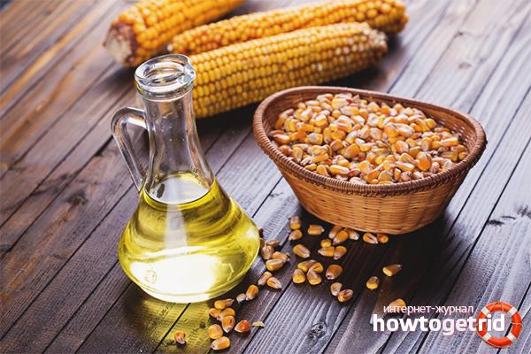 Minyak jagung untuk rambut