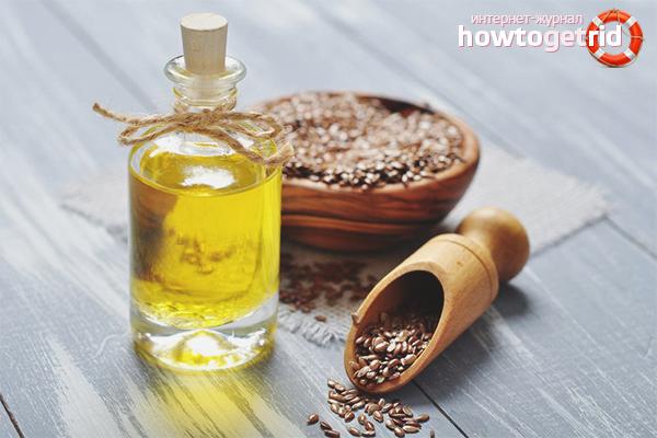 Linfröolja för skadat hår