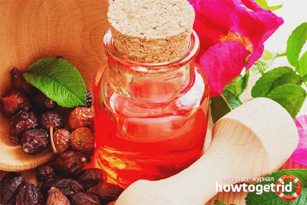 Rosehip olja för att bekämpa hårskador