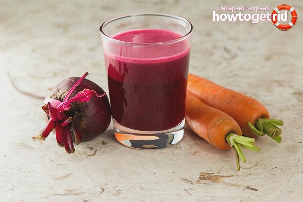 Сок от цвекло с моркови