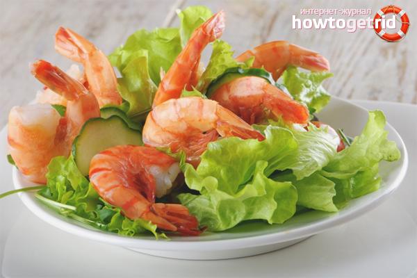 Comment faire une salade de crevettes