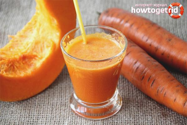 Suc de morcov și dovleac