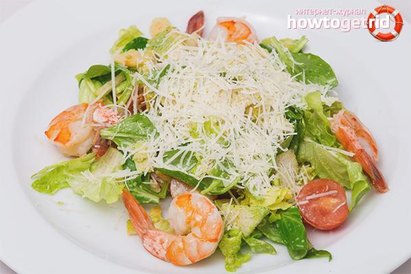 Salade César aux Crevettes