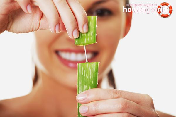Aloe juice för ansiktshud