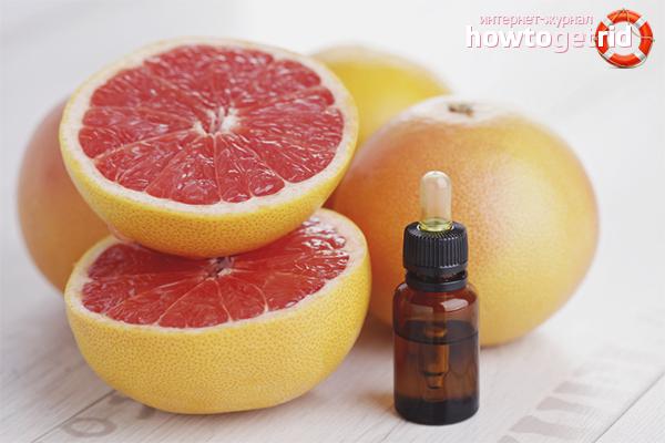 Essentiell olja för grapefrukt för hår