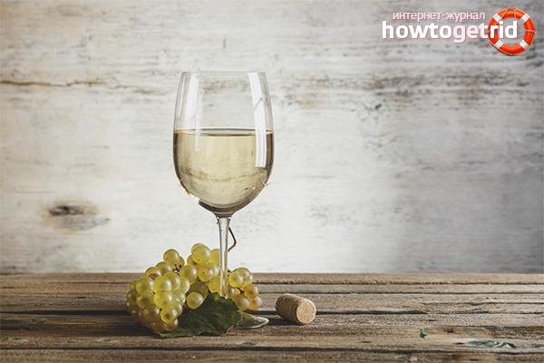 Els avantatges i els perjudicis del vi blanc