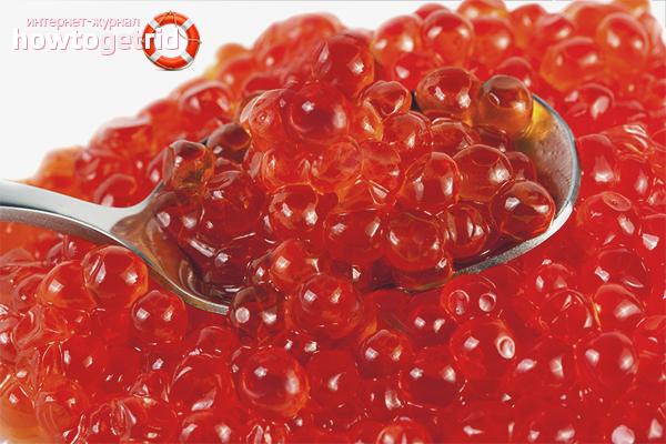 Els avantatges del caviar vermell per a les dones embarassades