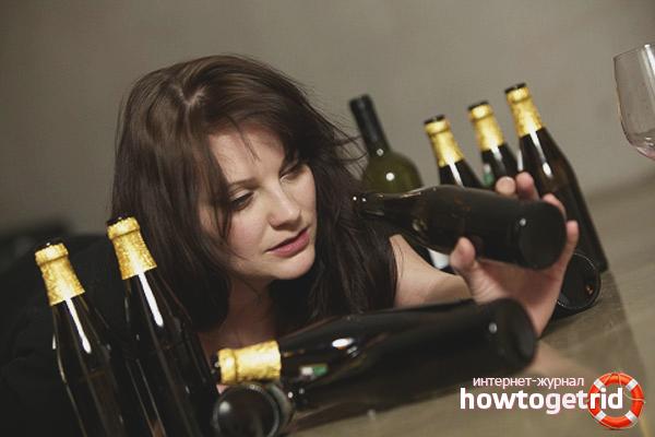 Weiblicher Alkoholismus
