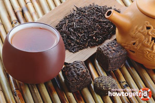 Fördelarna och skadorna med Puer te