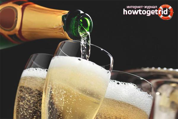 Regeln für die Abfüllung von Champagner