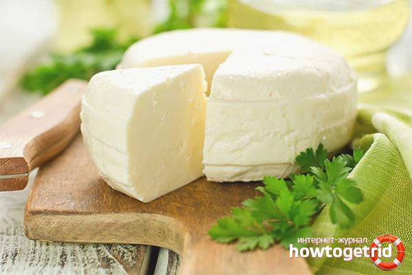 Adyghe-Käse aus Sauerrahm und Milch