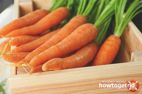 Cách bảo quản cà rốt