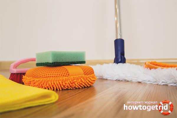 Cara mencuci linoleum selepas dibaiki