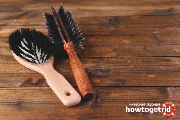 Cara menyikat rambut dan kotoran