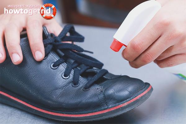 Wie man Schuhe gegen Pilze desinfiziert