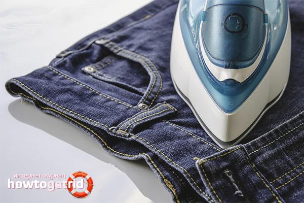 Zmniejsz jeansy żelazkiem