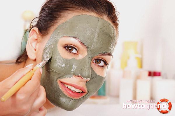 Oczyszczanie twarzy z gliny