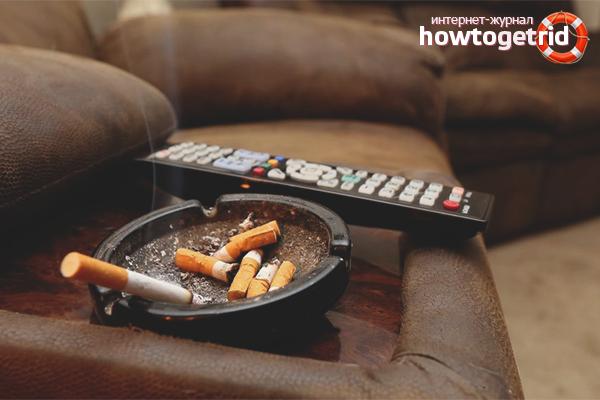 Wie man den Tabakgeruch in der Wohnung loswird