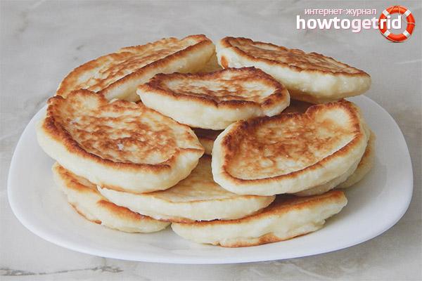 Hvordan man laver frodige pandekager på kefir