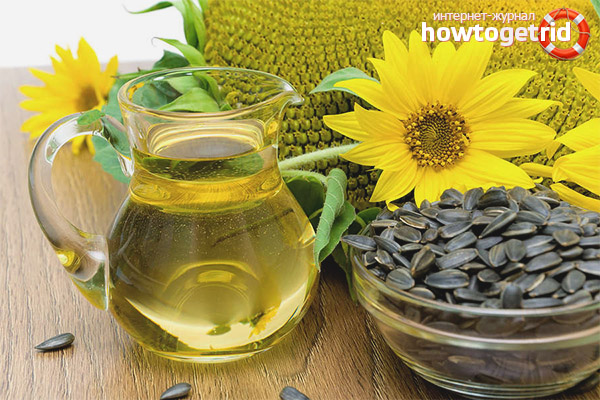 Sonnenblumenölbehandlung