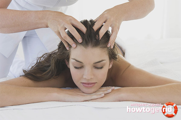 Kopfmassage für Haarwuchs und Kräftigung