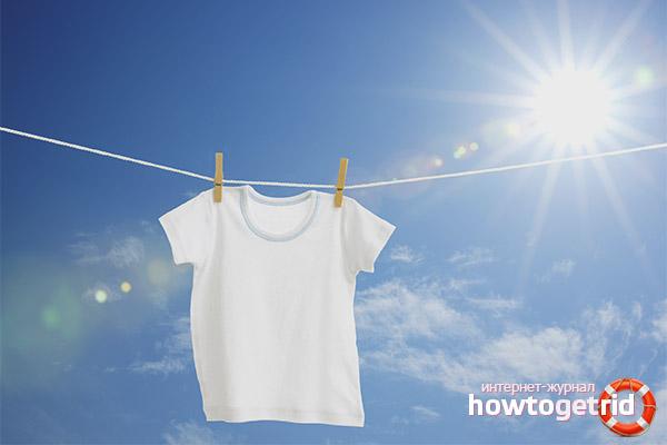 Kā balināt baltu t-kreklu