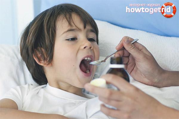 Behandlung von feuchtem Husten bei Kindern
