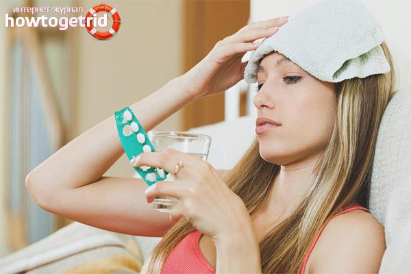 Medikamente gegen Kopfschmerzen während der Schwangerschaft