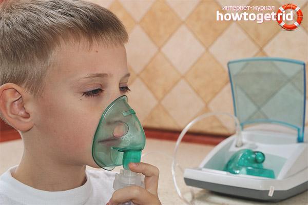 Einatmen von Dampfhusten für Kinder