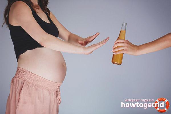 Bivirkninger ved at drikke øl til gravide kvinder